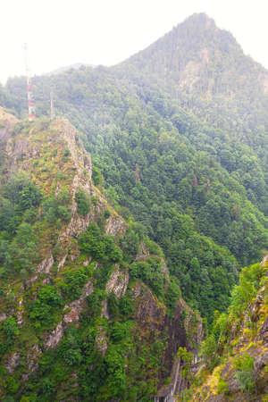 Canyon in the Carpathian Fagaras Mountains