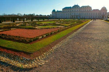 Belvedere park garden and castle in Vienna
