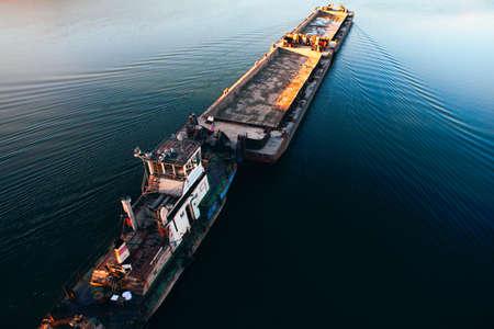 Freight shipping . Sailing cargo platform