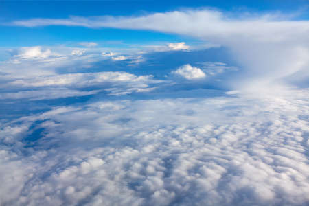 Clouds like in paradise . Fantastic view of clouds in stratosphere