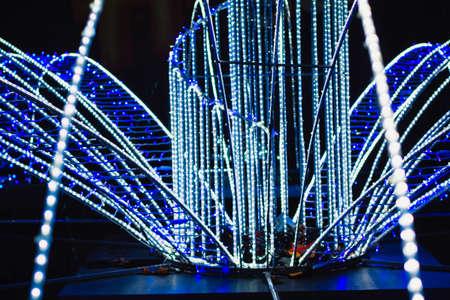 Christmas Neon Lights . New Year night illumination