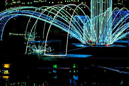 Christmas abstract illumination with neon lights