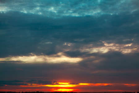 Dark Sky with Dim sunset Light Stockfoto