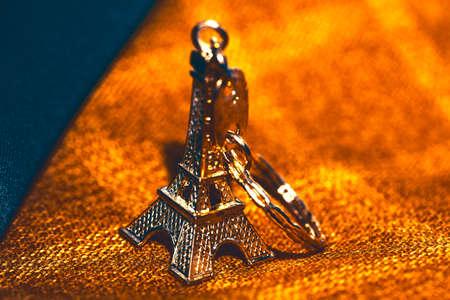 Souvenir from France . Miniature Eiffel Tower . Symbol of Paris