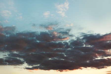Light dark clouds in the morning . Dawn cloudscape scenery Stockfoto