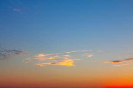 Gradient evening sky . Calm heaven in the twilight