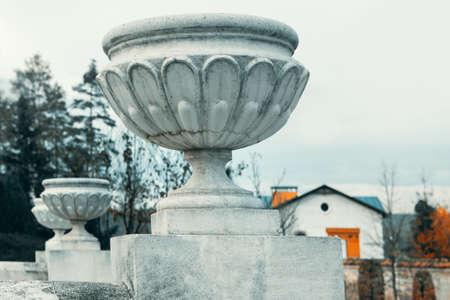 Concrete Flower Pots in Baroque Style