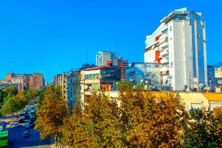 Tirana Albania downtown city district