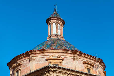 Cupola of Museum Patrono in Valencia . Architectural dome made by bricks Stok Fotoğraf