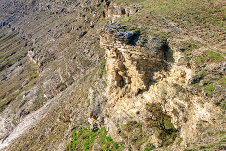 Rocky terrain with natural cliffs Imagens