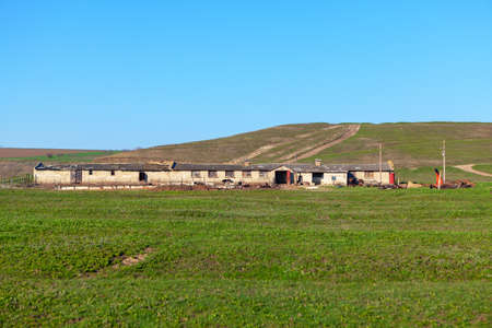 Old farm , barn building on the countryside