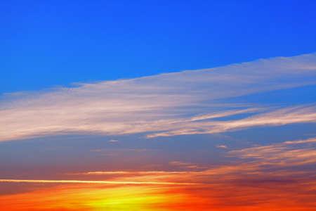 Vibrant evening sky with fantastic twilight Imagens