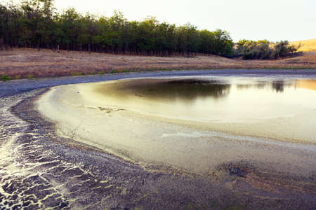 Mud of Dry Lake . African arid climate . Ecological catastrophe Imagens