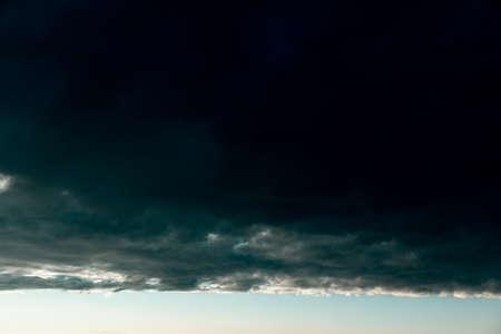 Storm black clouds . Summer hurricane sky Stok Fotoğraf
