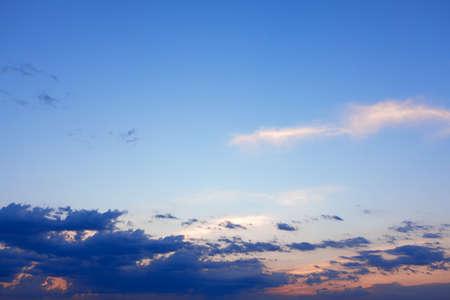 Sky during sunrise . Dawn heaven in the summer morning Stok Fotoğraf