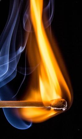 flaming: Flaming Match Stick