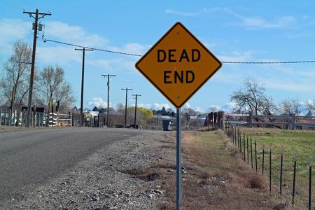 dead end: Dead End Sign