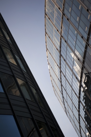 Angled glass and steel city buildings in London Stock Photo - 18790490