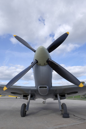 front view of a Supermarine Spitfire