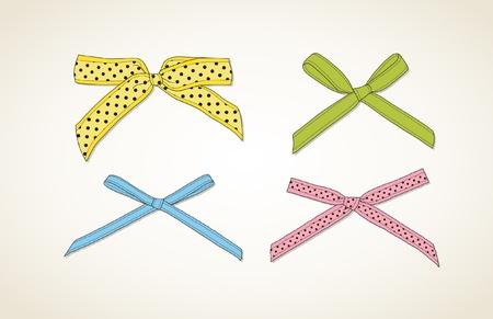 Colorful ribbons  イラスト・ベクター素材
