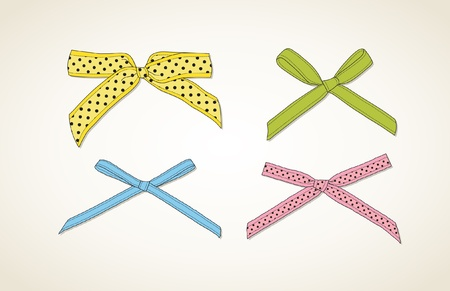 bows: Colorful ribbons Illustration