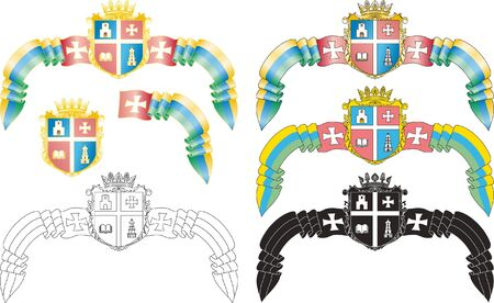 Emblem of the Ukrainian city of Kremenets Vector
