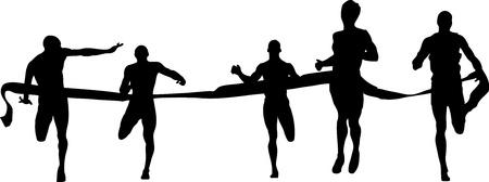 Finish runners