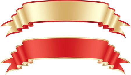 Festive gold and red tape