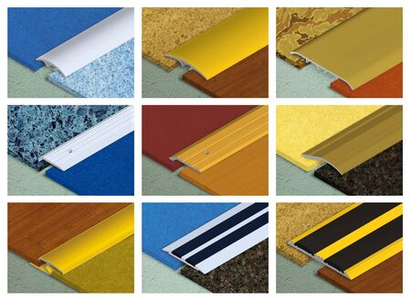 floor coverings: Aluminium profile for connection of floor coverings