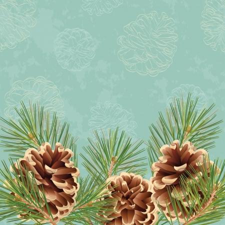 Christmas and New Year greeting card or background Illusztráció