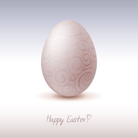 chicken egg: Easter card template, chicken egg icon Illustration