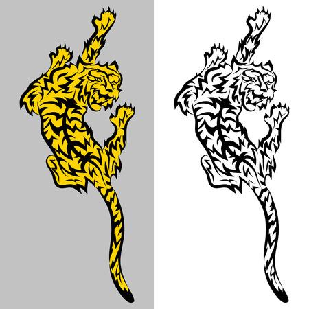 Tribal predatory Tiger � vector tattoo Vector