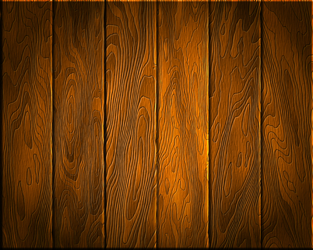 plywood: Natural wood Texture, dark boards, realistic wooden background, vector Illustration
