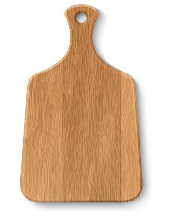 Realistische houten snijplank, geïsoleerd op wit