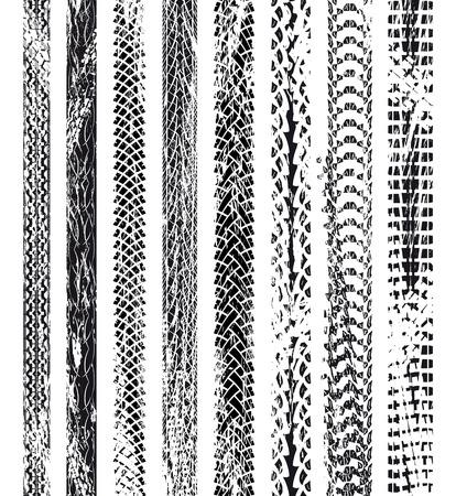 bicyclette: Collection des traces de pneus de v�los