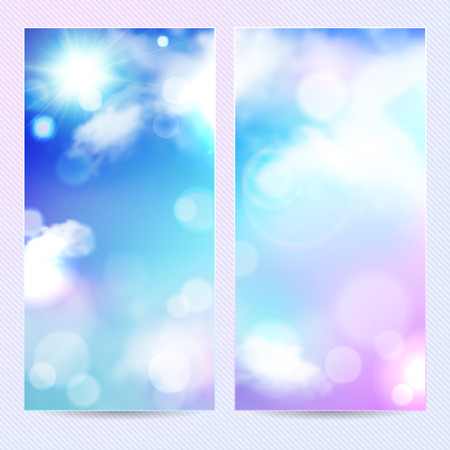 postcard background: Abstract blue background, template banner or postcard