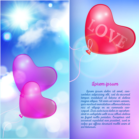 Template greeting card, booklet, abstract romantic background Vector