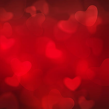 valentine's day background: Abstract blurred square red boke background