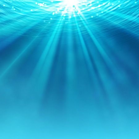 Abstract underwater background with sunlight Illustration