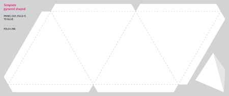 shaped: Template pyramid shaped, vector