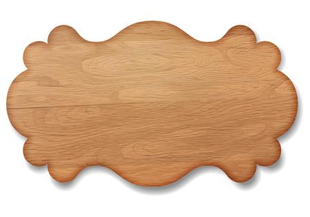 Wooden signboard decorative banner