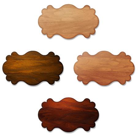 letreros: Conjunto de letreros de madera banners decorativos