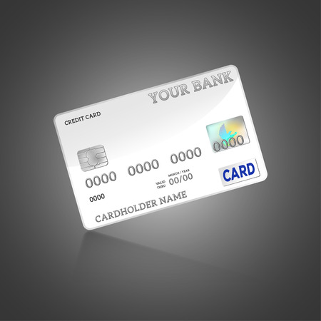 Vector - Template credit card isolated on background Illustration