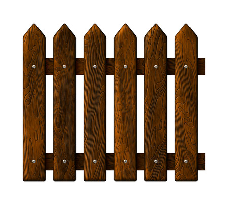 Fragment seamless vector wooden fence  イラスト・ベクター素材