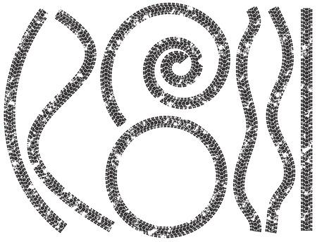 llantas: Recolección de huellas de neumáticos en el barro para las motocicletas
