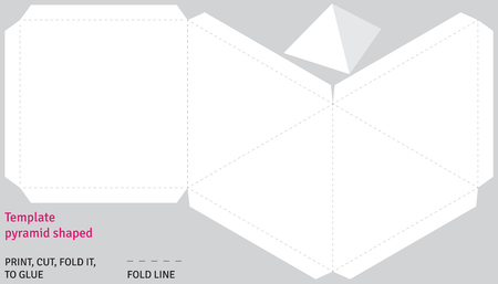shaped: Template pyramid shaped, vector