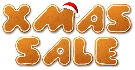 gingerbread cake: Xmas sale.  Illustration