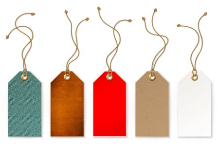 paper tag: Set of price and sale tags for store, vector illustration