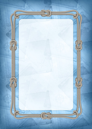 pirata: Plantilla vertical de diploma, tarjeta de felicitaci�n con los elementos del dise�o del mar