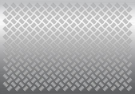 Gray metal background, vector pattern texture